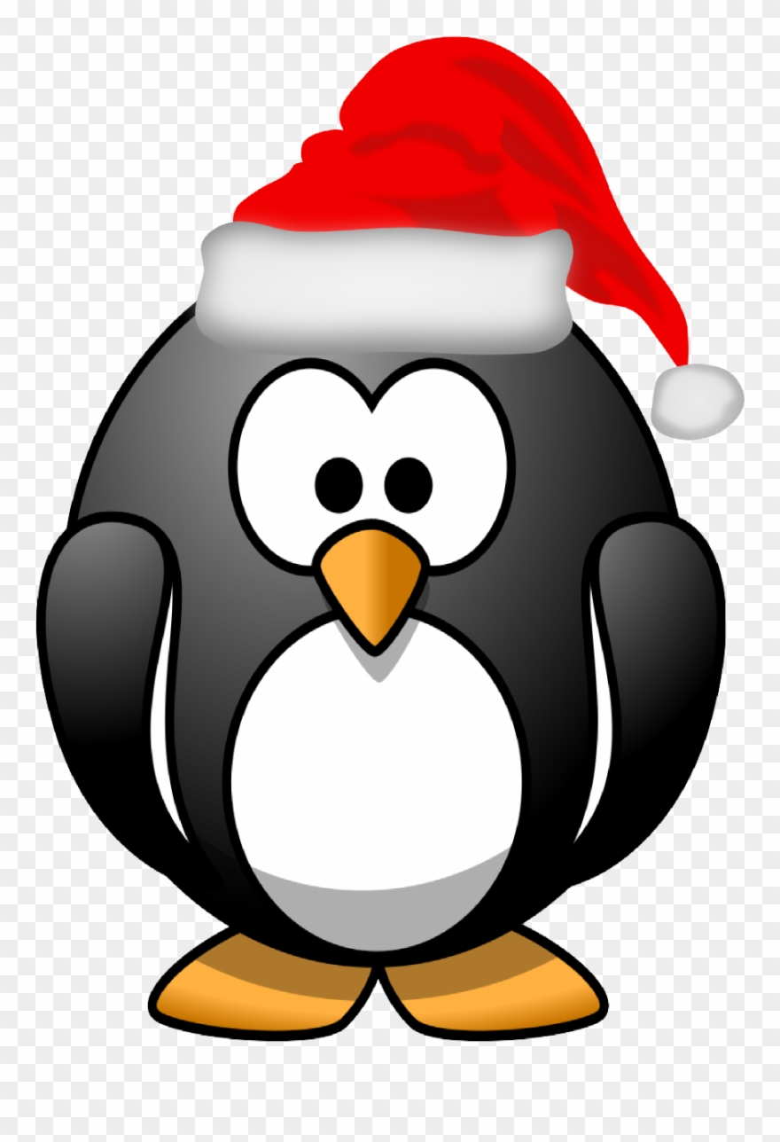 Christmas penguin images clipart jpg black and white download Xmas Stuff For Christmas Penguin Clipart Black And - Penguin With A ... jpg black and white download