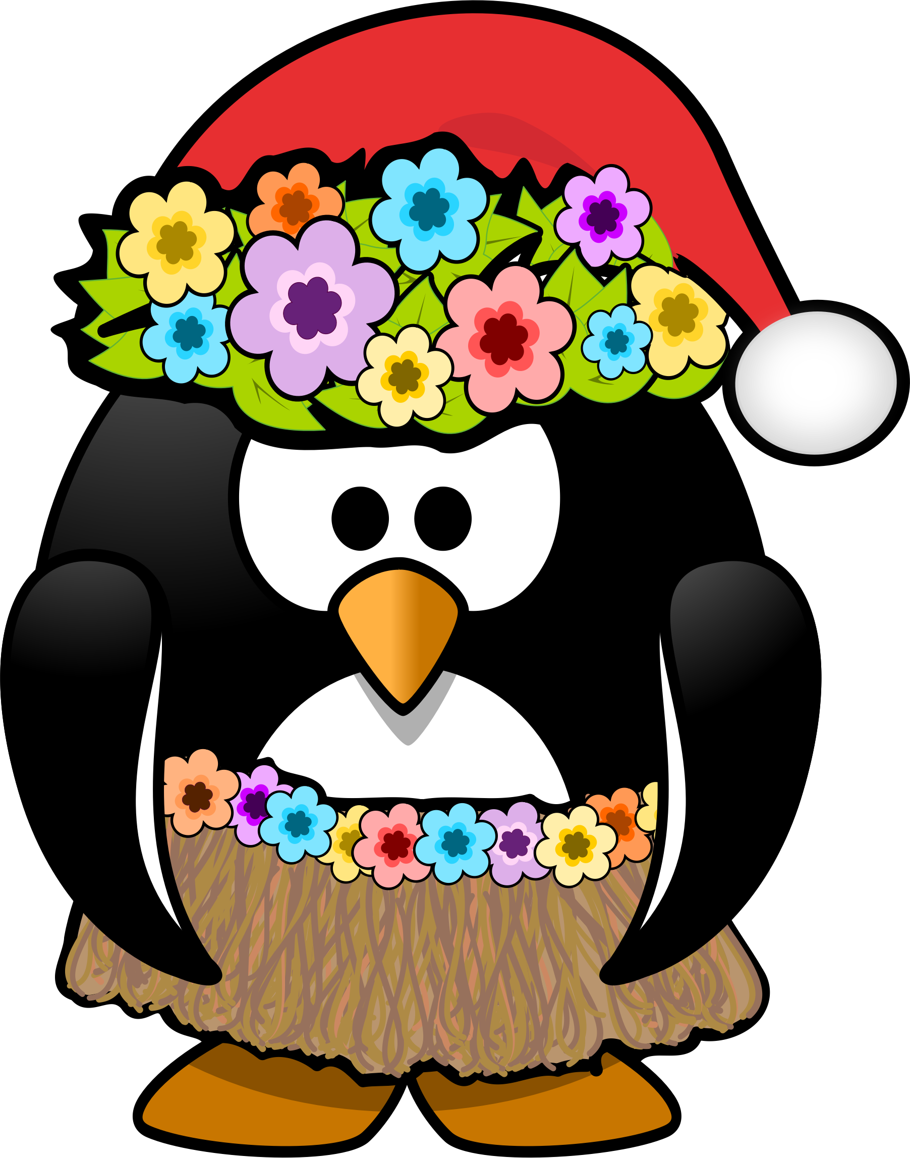 Christmas penguins clipart png transparent library Clipart - Christmas in July Penguin png transparent library