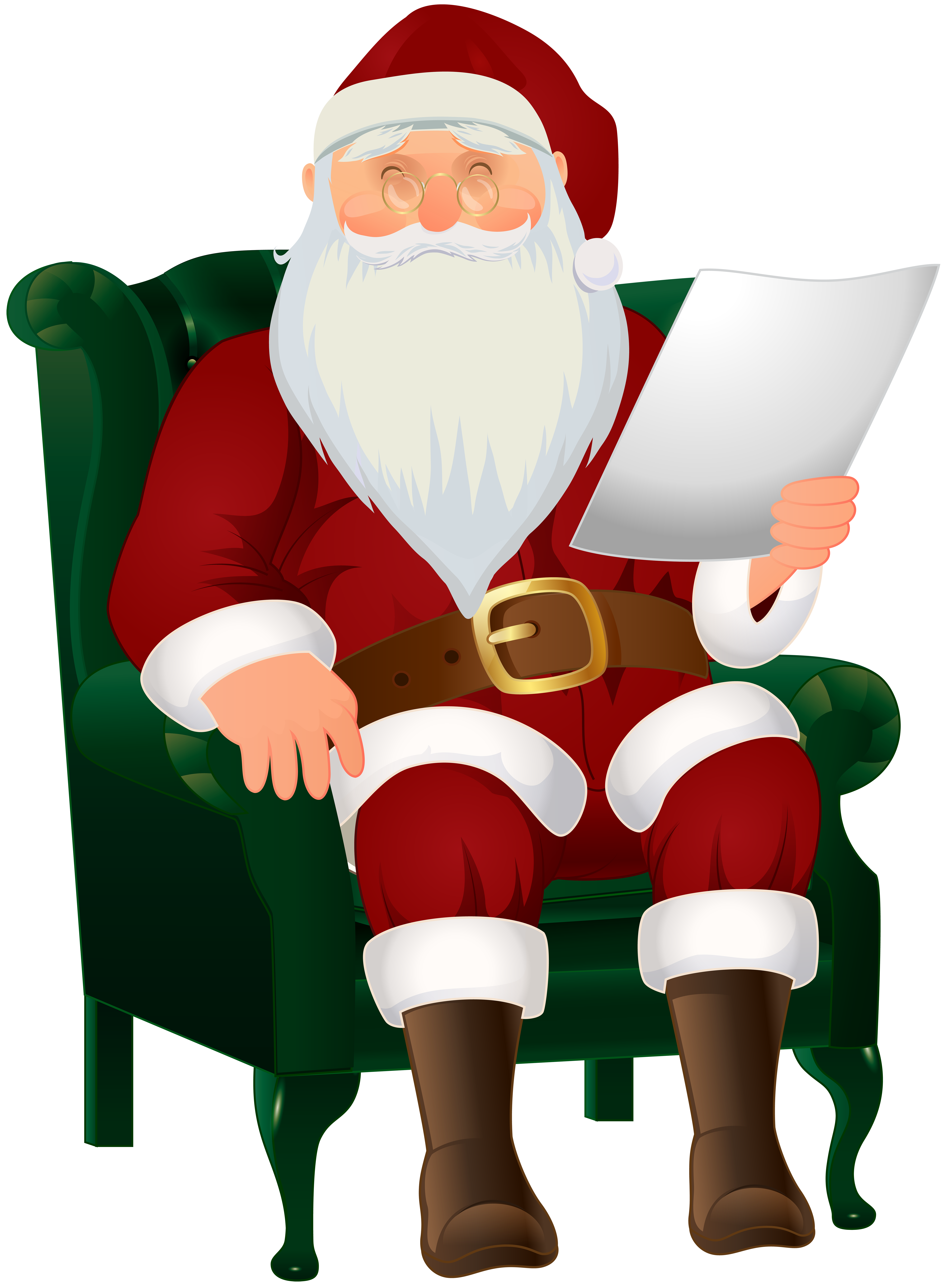 Christmas piano clipart vector royalty free Santa Claus Sitting PNG Clip Art Image | Gallery Yopriceville ... vector royalty free