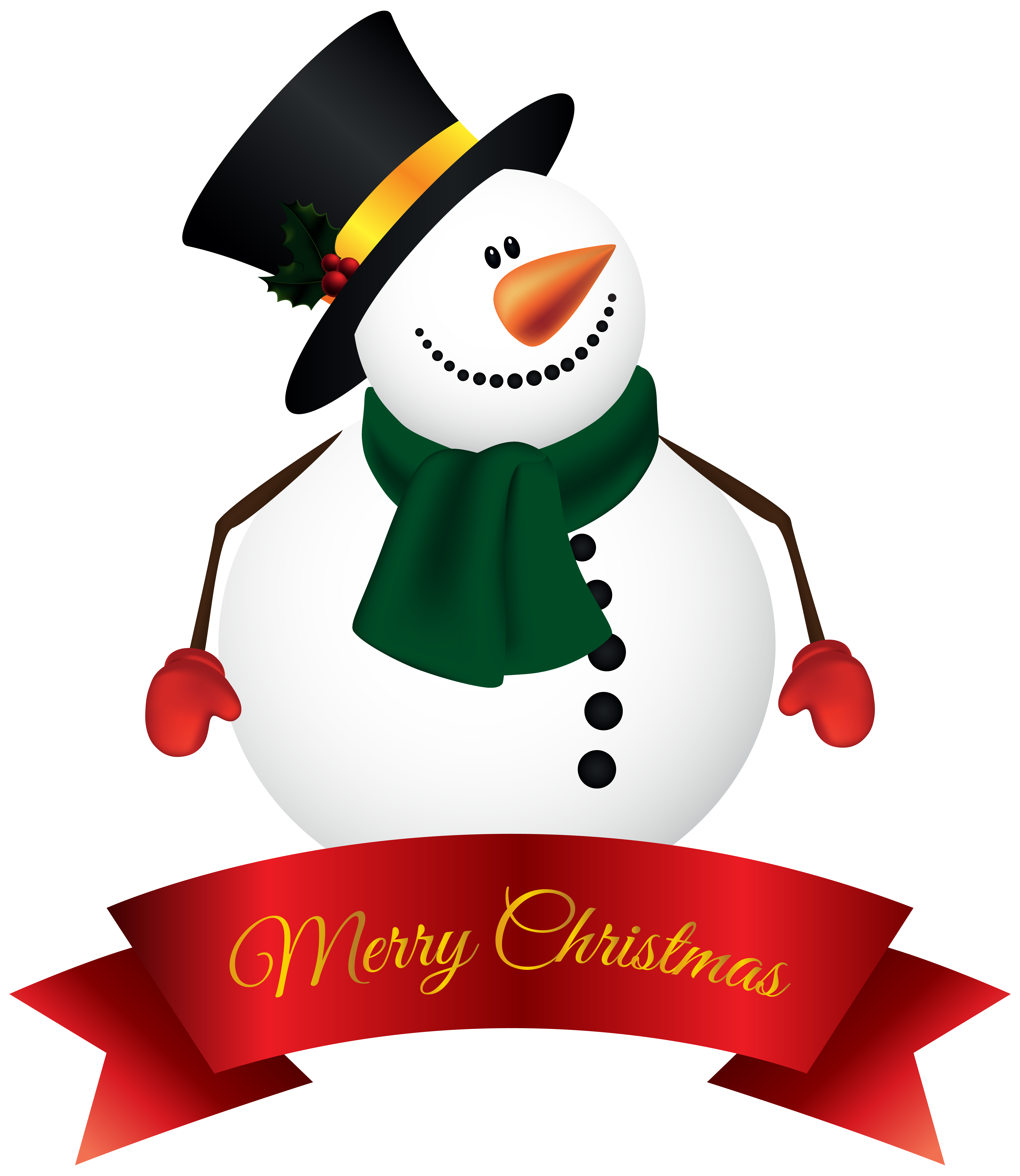 Merry christmas snowman clipart clipart freeuse stock Snowman Banner PNG Clipart Image | Gallery Yopriceville - High ... clipart freeuse stock