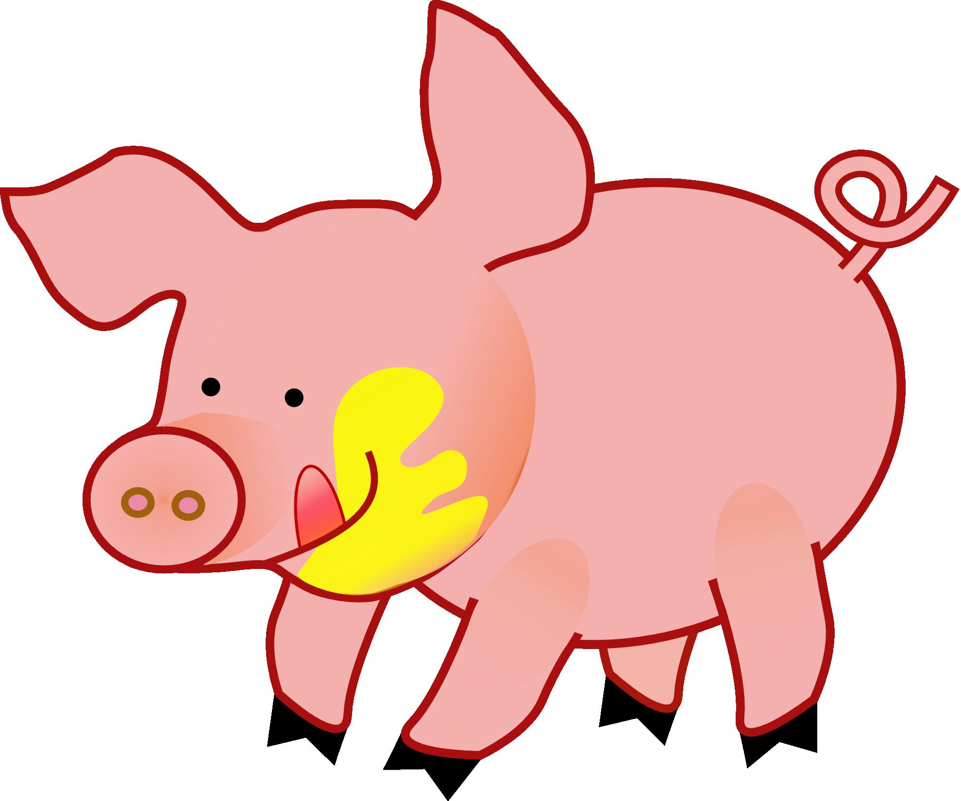 Pig in pumpkin clipart