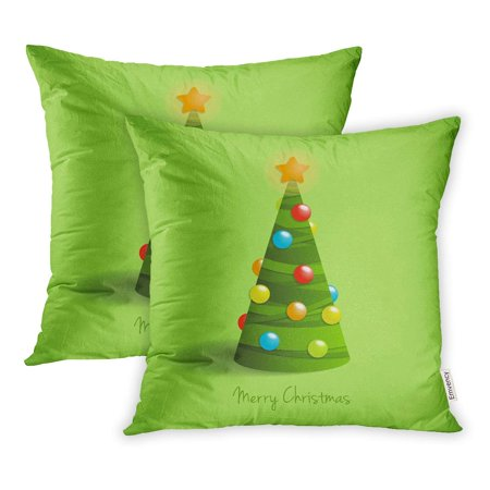 Walmart christmas clipart clipart free download YWOTA Balls Christmas Tree on Green Clipart Color Pillow Cases Cushion  Cover 16x16 inch clipart free download
