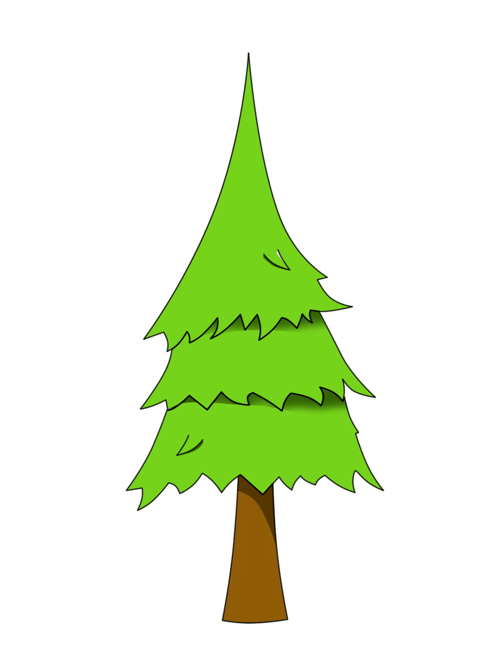 Free pine tree clipart vector library download Pine tree (png) | OpenGameArt.org vector library download