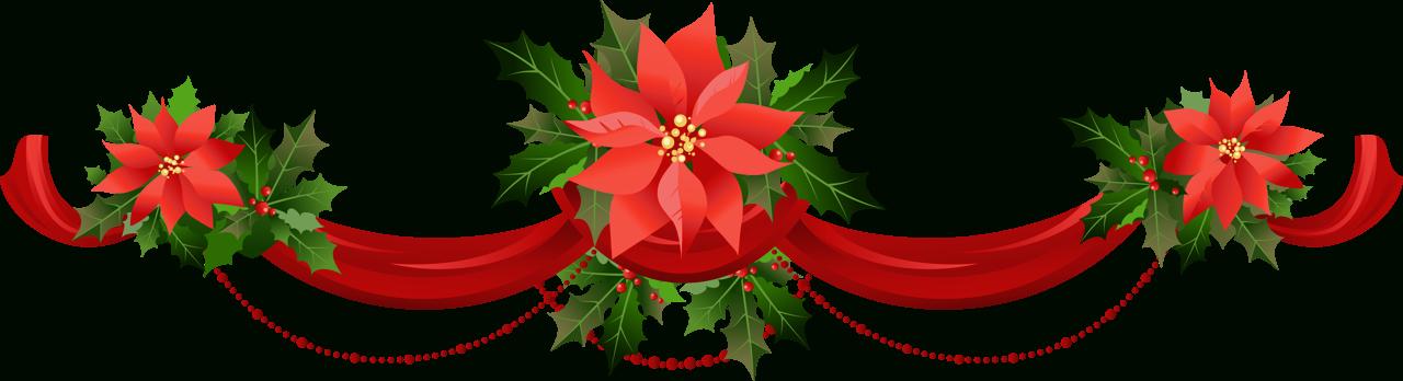 Poinsettia tree clipart clip transparent Christmas Poinsettia Clipart Group (54+) clip transparent