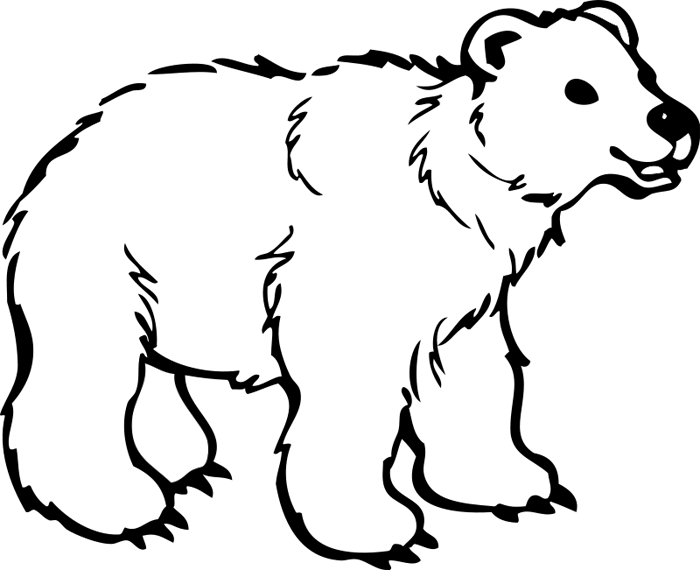 Walk to school clipart black and white image free download Polar Bear Clipart & Animations image free download