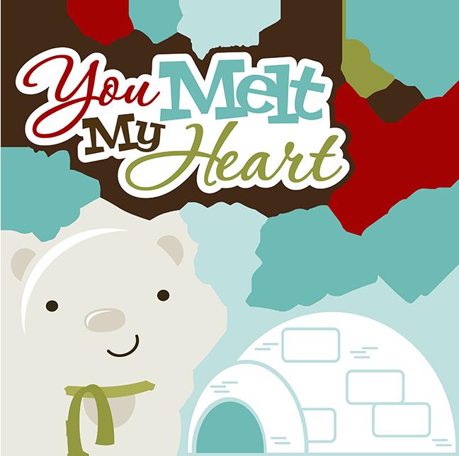 Christmas polar bear clipart clipart black and white stock You Melt My Heart SVG polar bear svg igloo svg snowflake svg svg ... clipart black and white stock