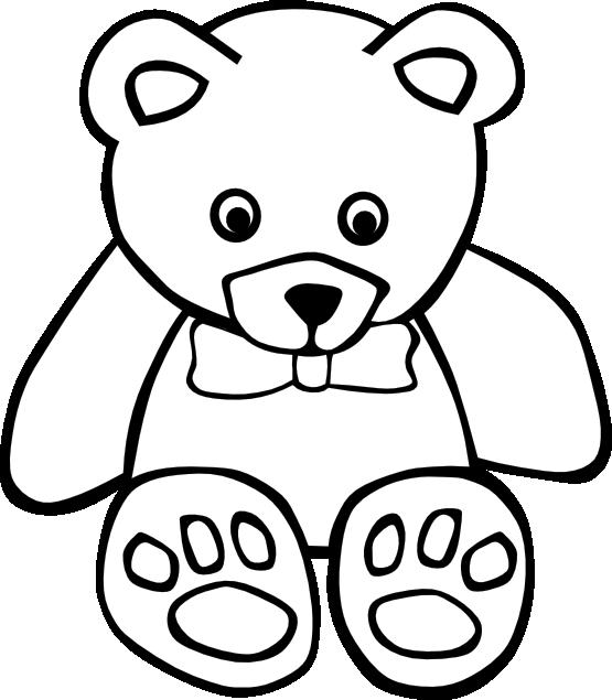 Christmas polar bear clipart jpg freeuse Simple Teddy Bear Black White Xmas Christmas Coloring Book Colouring ... jpg freeuse