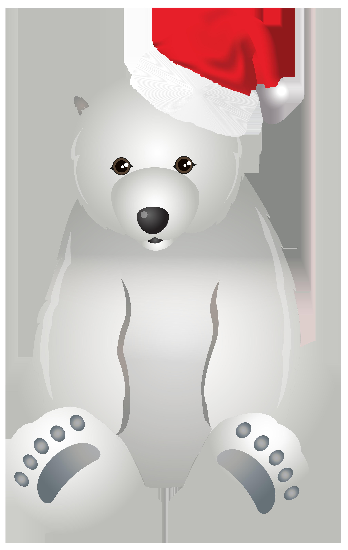 Christmas polar bear clipart jpg library library Christmas Polar Bear Transparent Clip Art Image | Gallery ... jpg library library