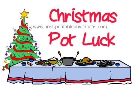Christmas potluck luncheon clipart vector free stock Free Printable Christmas Potluck Invitations from www.best-printable ... vector free stock