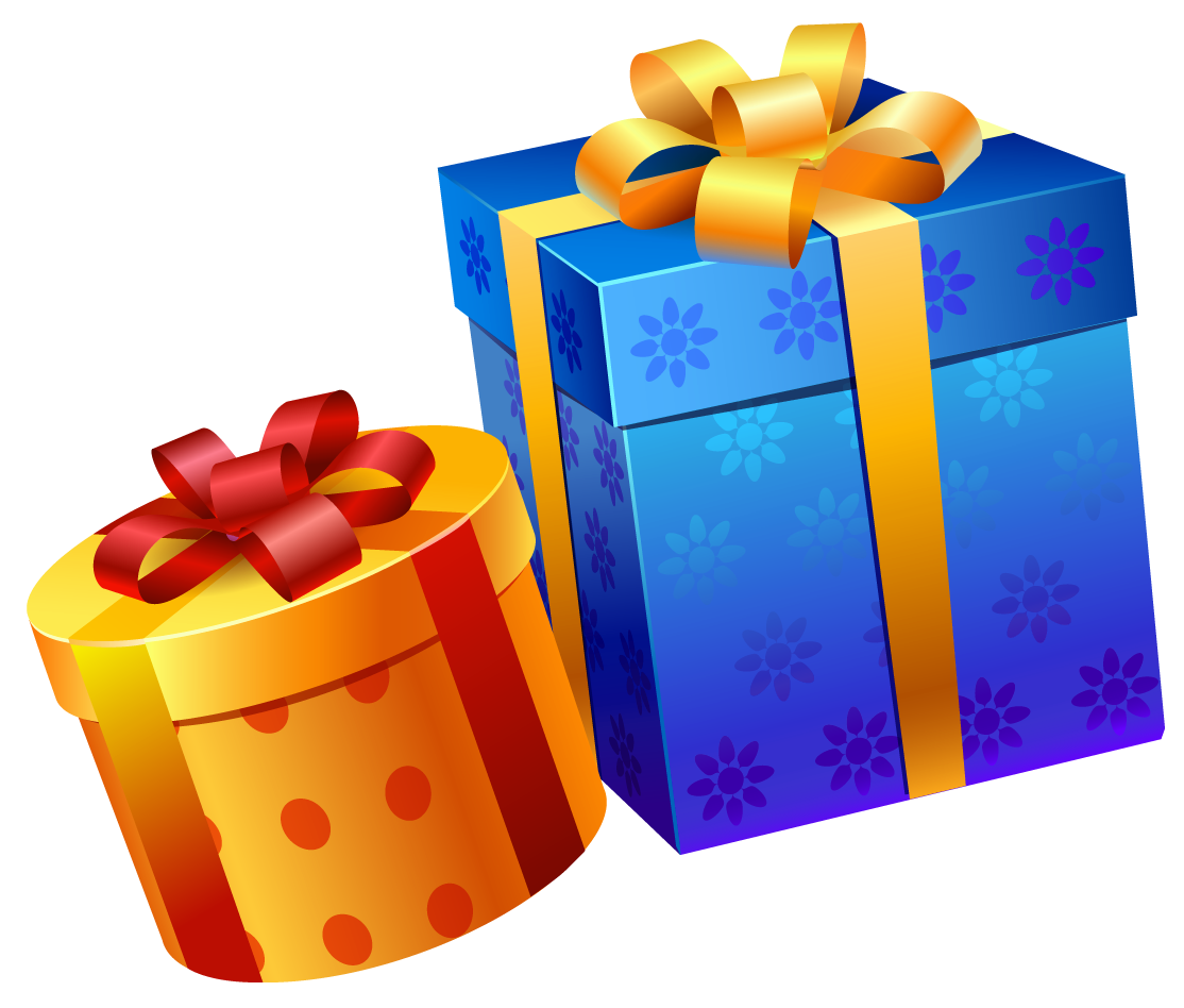 Christmas present clipart png library Blue Yellow Present Boxes PNG Clipart | Gallery Yopriceville - High ... png library