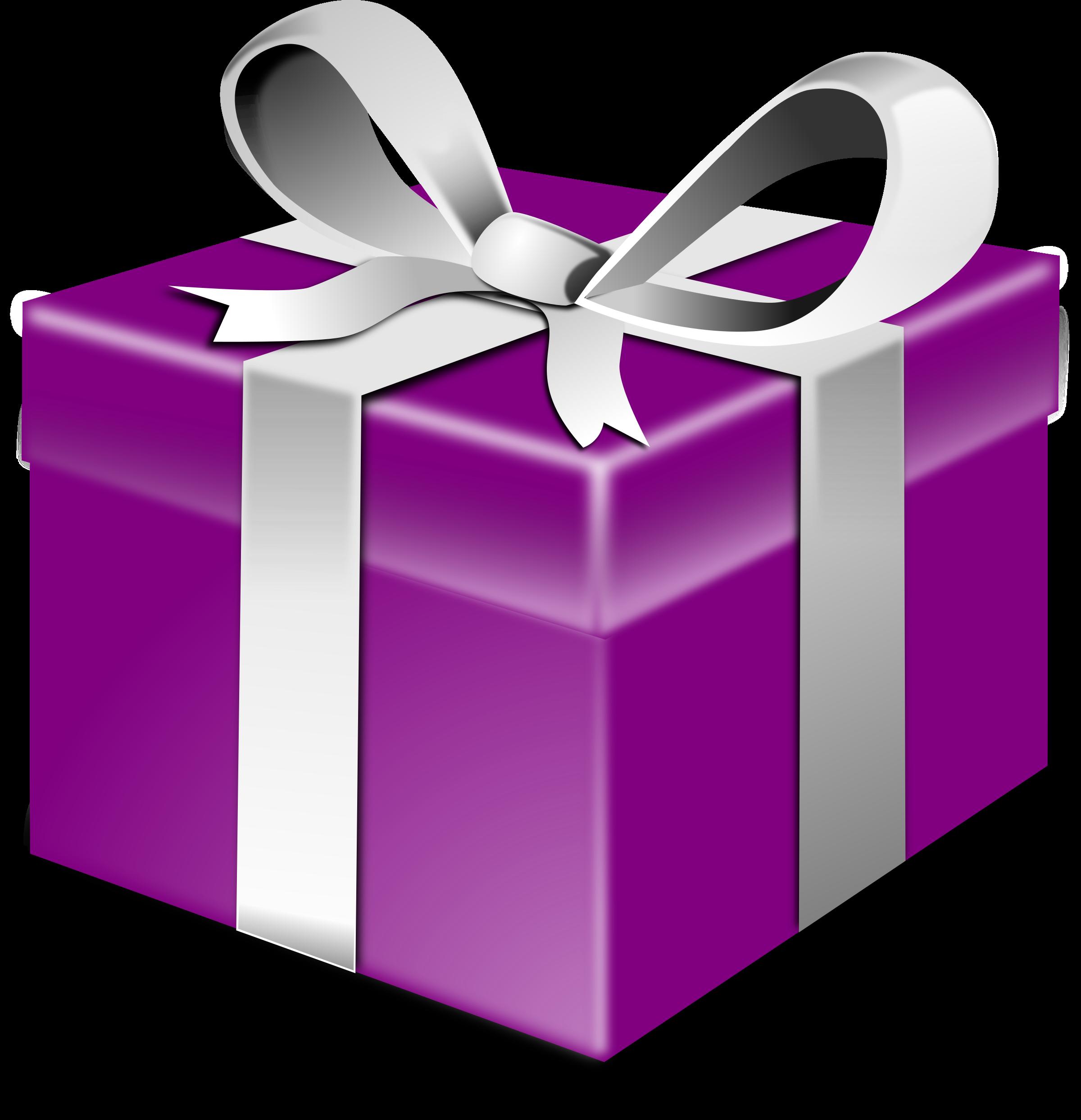 Christmas present clipart jpg royalty free Clipart - Purple present jpg royalty free