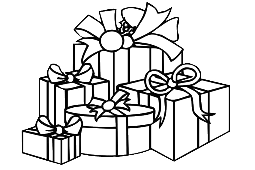 Christmas present clipart black white png black and white Free Christmas Present Pictures, Download Free Clip Art, Free Clip ... png black and white
