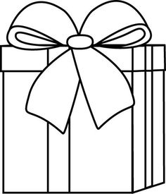 Christmas present clipart black white banner royalty free library Christmas Gift Clipart Black And White   Free download best ... banner royalty free library