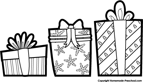 Christmas present clipart black white graphic royalty free library Christmas Present Clipart Black And White (87+ images in Collection ... graphic royalty free library