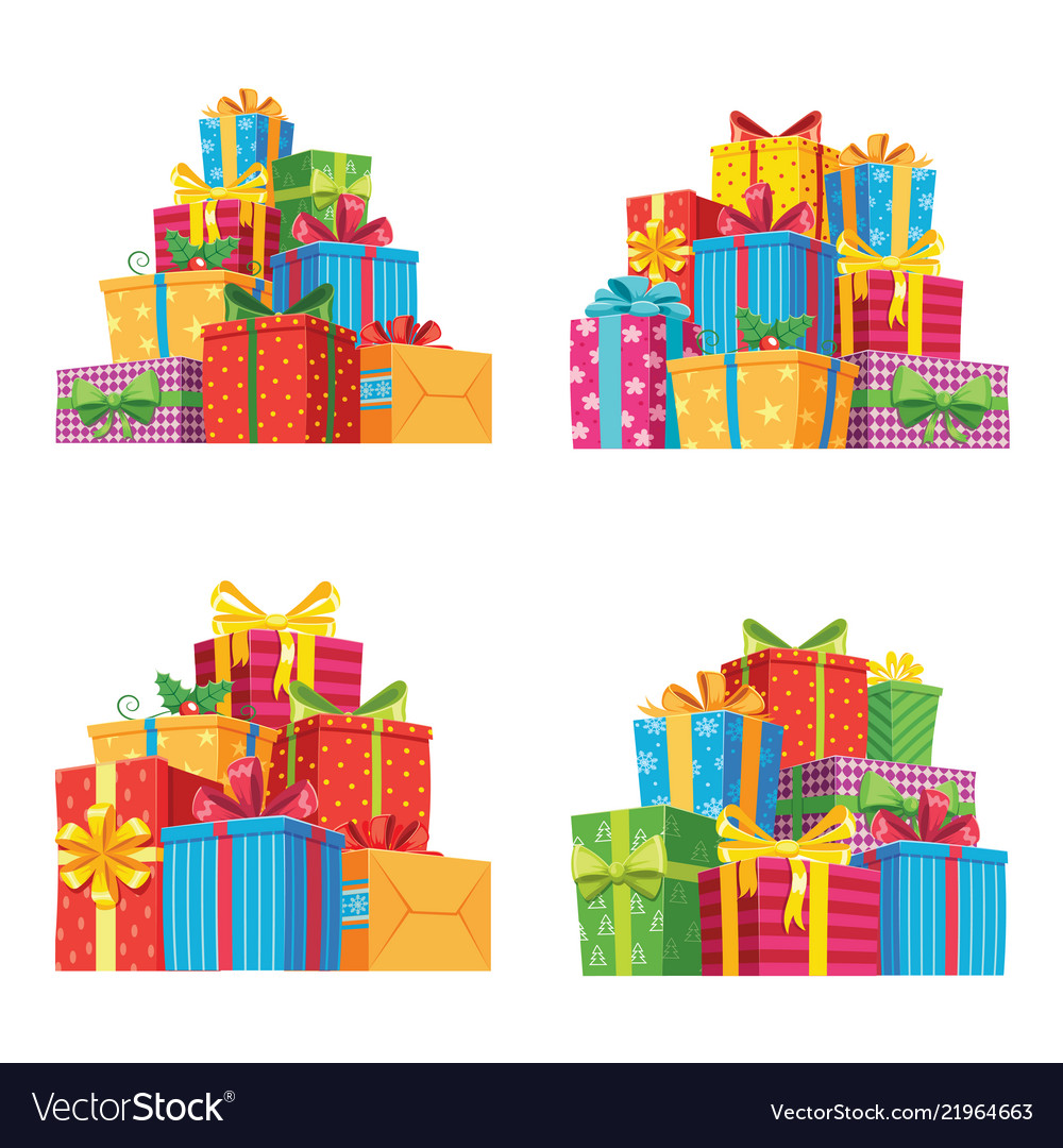 Christmas present pile clipart svg freeuse stock Christmas presents in gift boxes birthday present svg freeuse stock