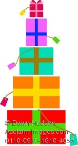 Christmas present pile clipart picture free download Clipart Illustration of a Pile of Christmas or Birthday Presents picture free download