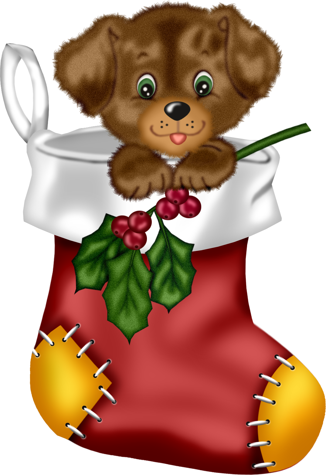 Christmas puppy clipart