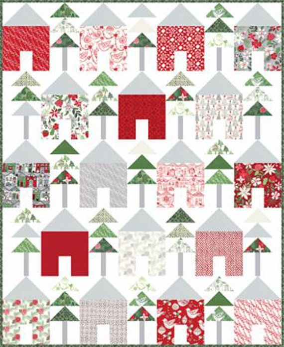 Christmas quilting clipart transparent library NEW Moda Christmas/Holiday Quilt Kit by Moda Designer Kate Spain ... transparent library