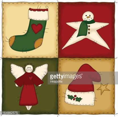 Christmas quilting clipart png freeuse stock Folk Art Christmas Quilt (with Jpg) premium clipart - ClipartLogo.com png freeuse stock