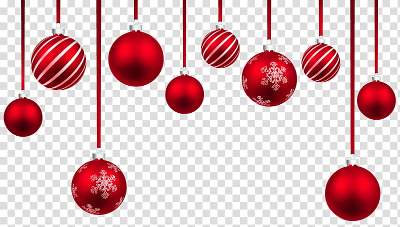 Red decoration clipart vector transparent Christmas ornament , Red Christmas Hanging Balls Decor , red ... vector transparent