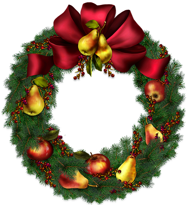 Christmas wreath clipart free clip art library Christmas Wreath Transparent Clipart Picture | Gallery Yopriceville ... clip art library