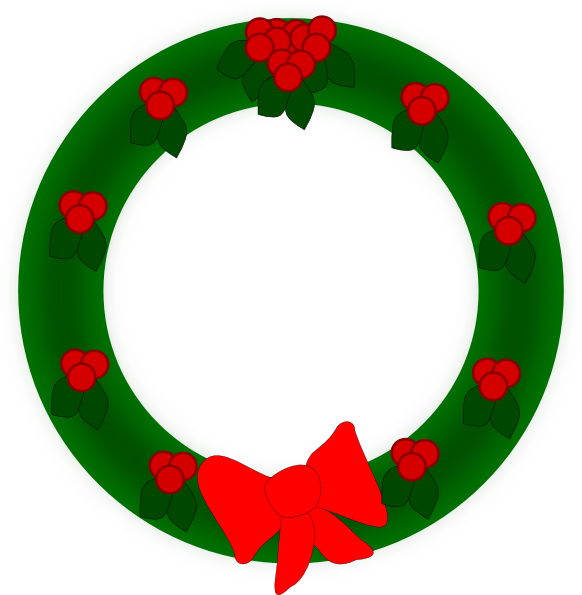 Free christmas wreath clipart jpg freeuse download Holiday Wreath Clip Art at Clker.com - vector clip art online ... jpg freeuse download
