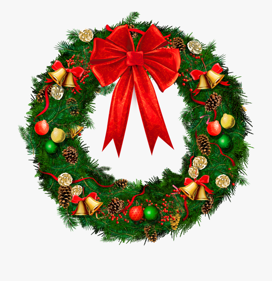 Clipart xmas wreath png library stock Christmas Wreath Pictures Clip Art - Christmas Wreath Transparent ... png library stock