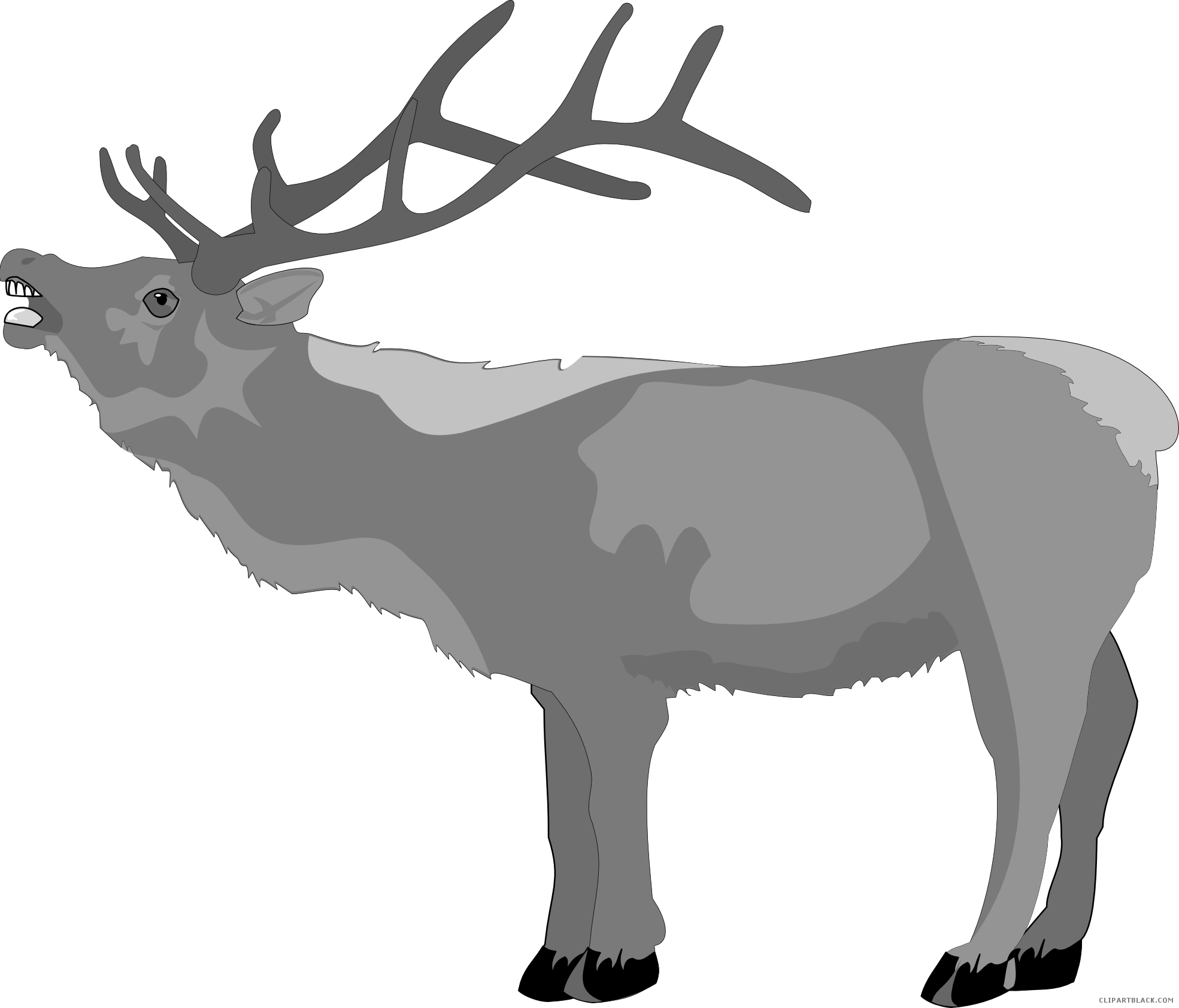 Reindeer clipart christmas vector royalty free Christmas Reindeer Clipart - ClipartBlack.com vector royalty free