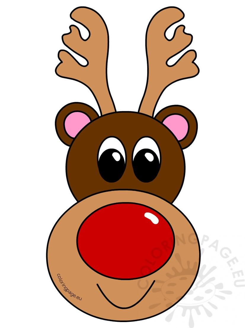 Christmas reindeer head clipart vector royalty free library Christmas clipart reindeer head – Coloring Page vector royalty free library