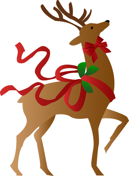 Free clipart christmas reindeer vector black and white stock Free Pictures Of Christmas Reindeer, Download Free Clip Art, Free ... vector black and white stock