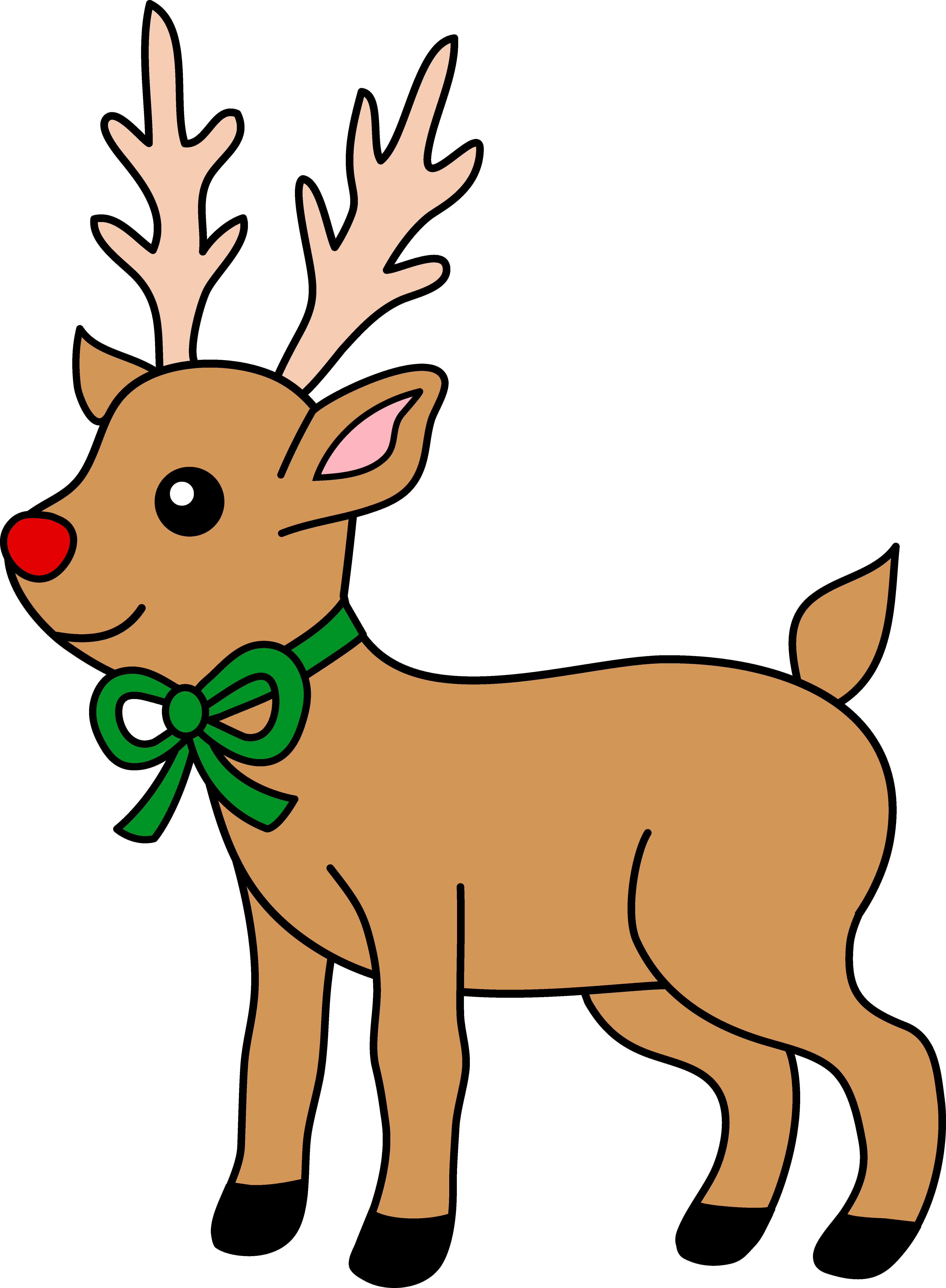Cartoon Reindeer Clipart | Free download best Cartoon Reindeer ... png free