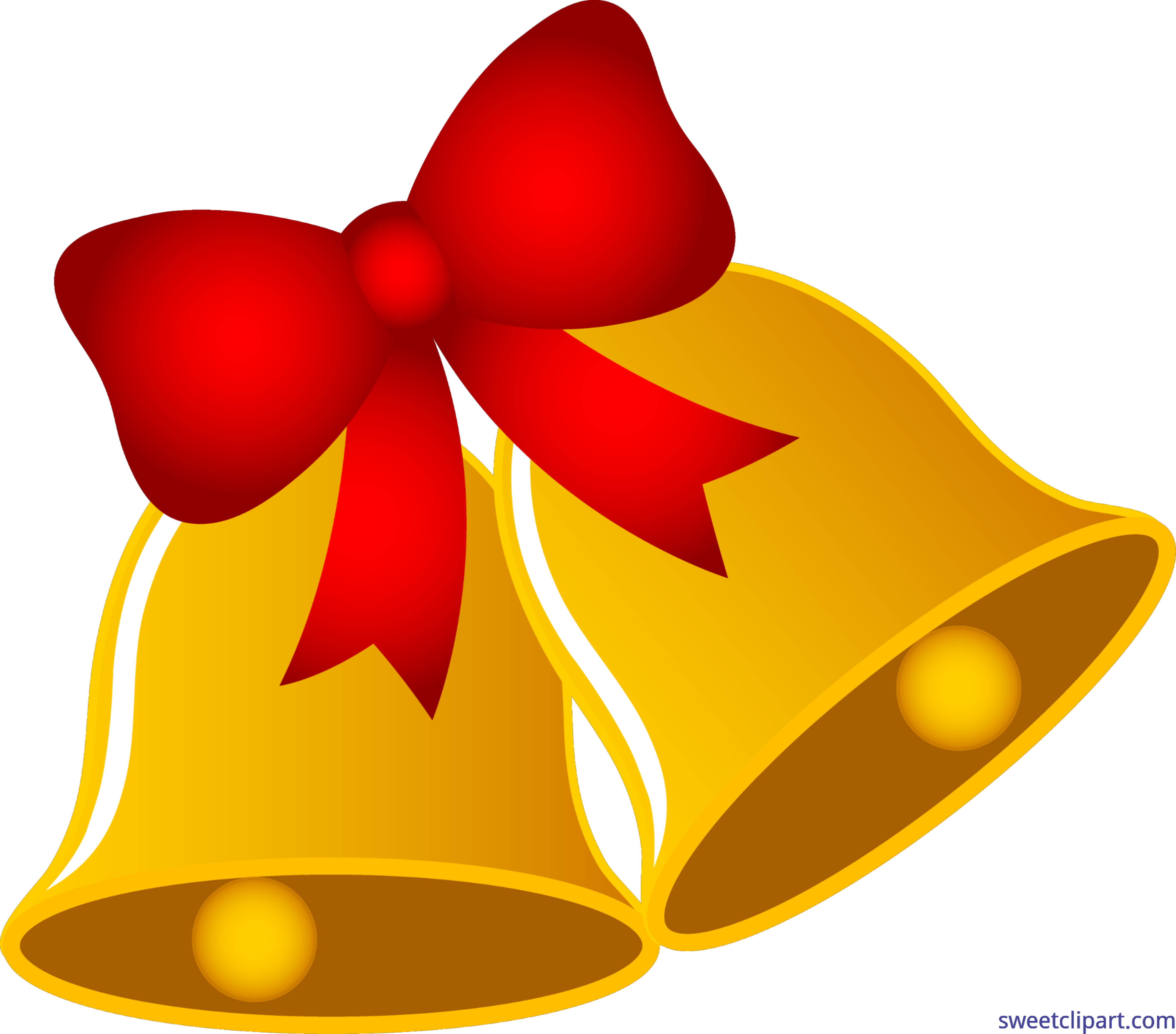 Christmas ribbon border clipart png royalty free download Christmas Bells With Bow Clip Art - Sweet Clip Art png royalty free download