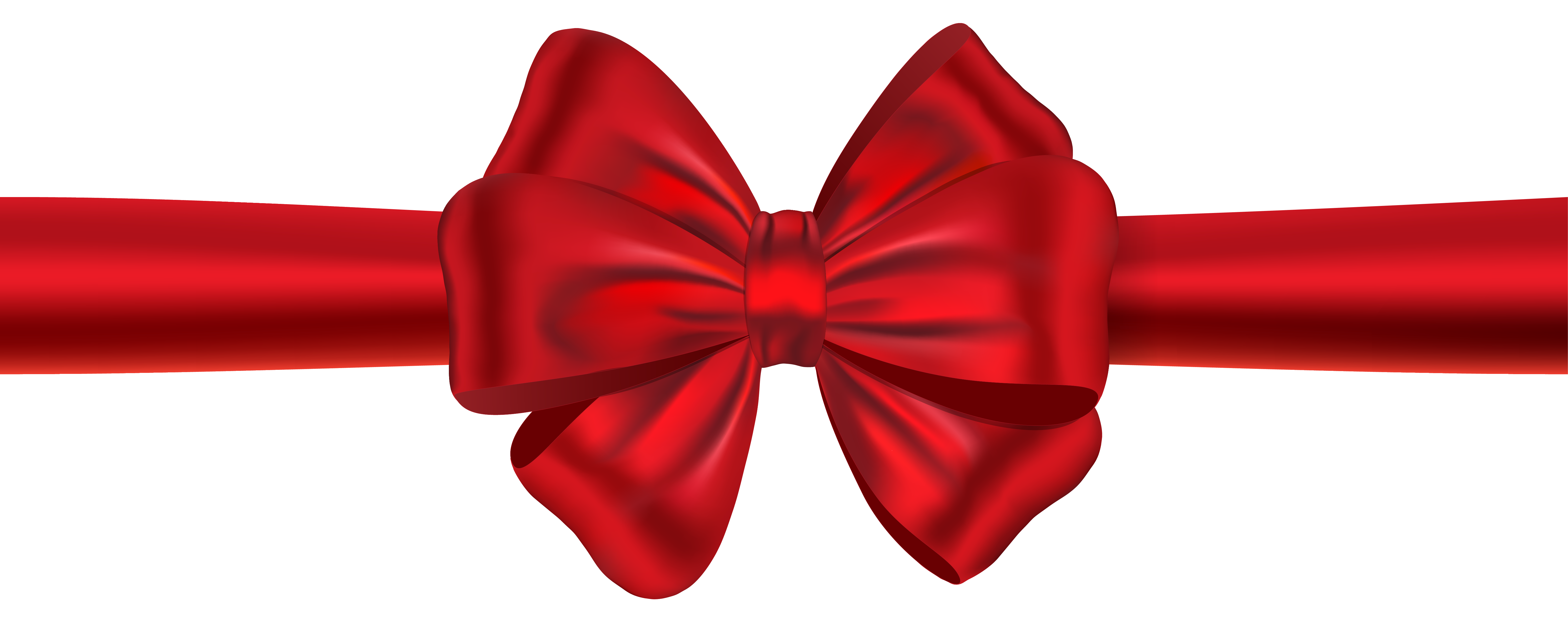Christmas ribbon clipart svg library library Red Ribbon with Bow PNG Clipart Image   Gallery Yopriceville - High ... svg library library