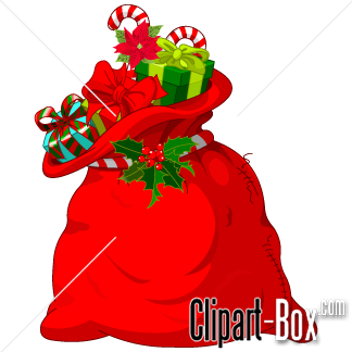 Christmas sack clipart clip art black and white CLIPART SANTA\'S BAG | Costumes | Santa sack, Christmas cartoons ... clip art black and white