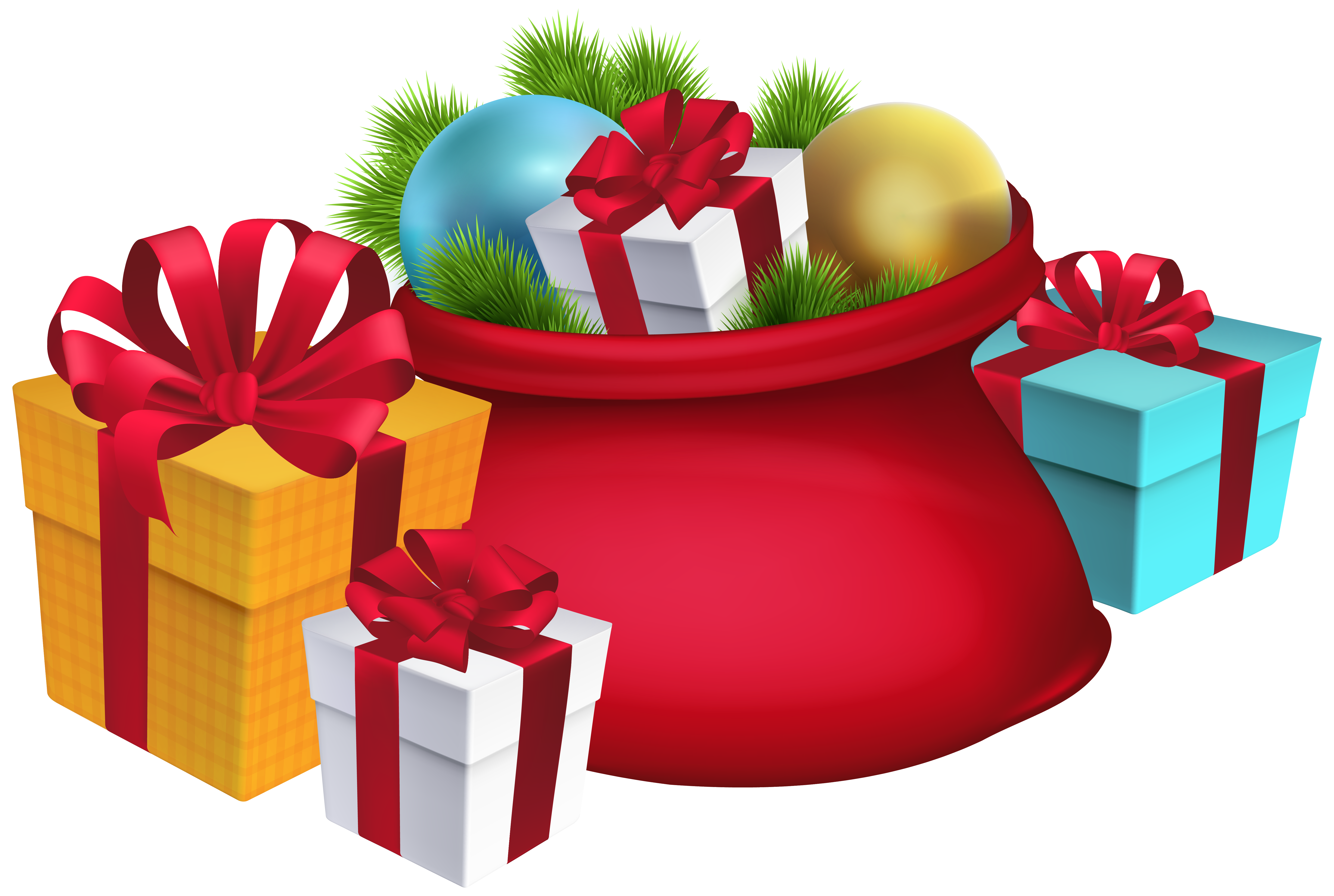 Christmas sack clipart jpg library download Christmas Santa\'s Sack Decorations PNG Clipart Image | Gallery ... jpg library download