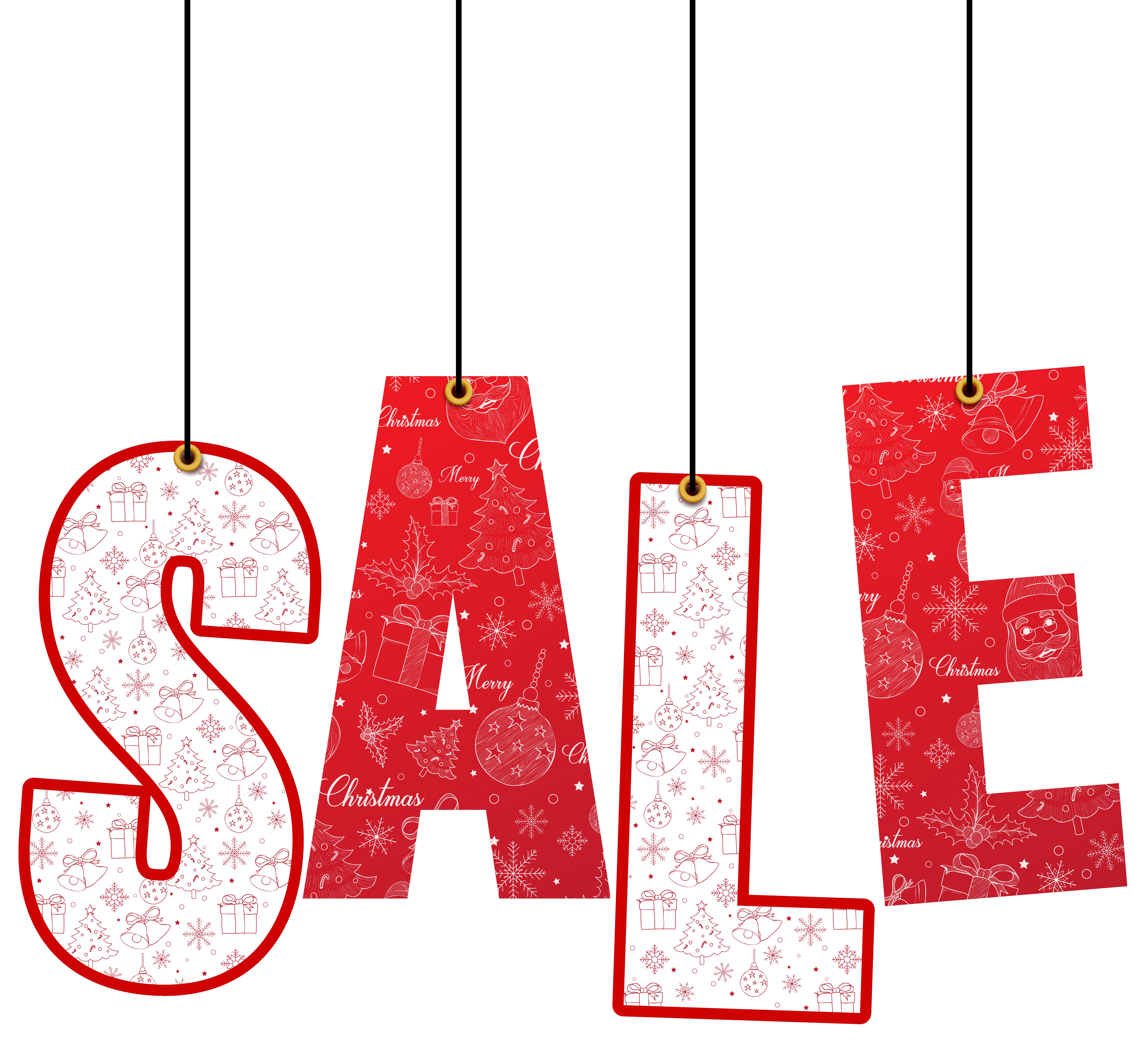 Christmas sale clipart vector transparent stock Christmas Hanging Sale Decoration PNG Clip Art Image | Gallery ... vector transparent stock