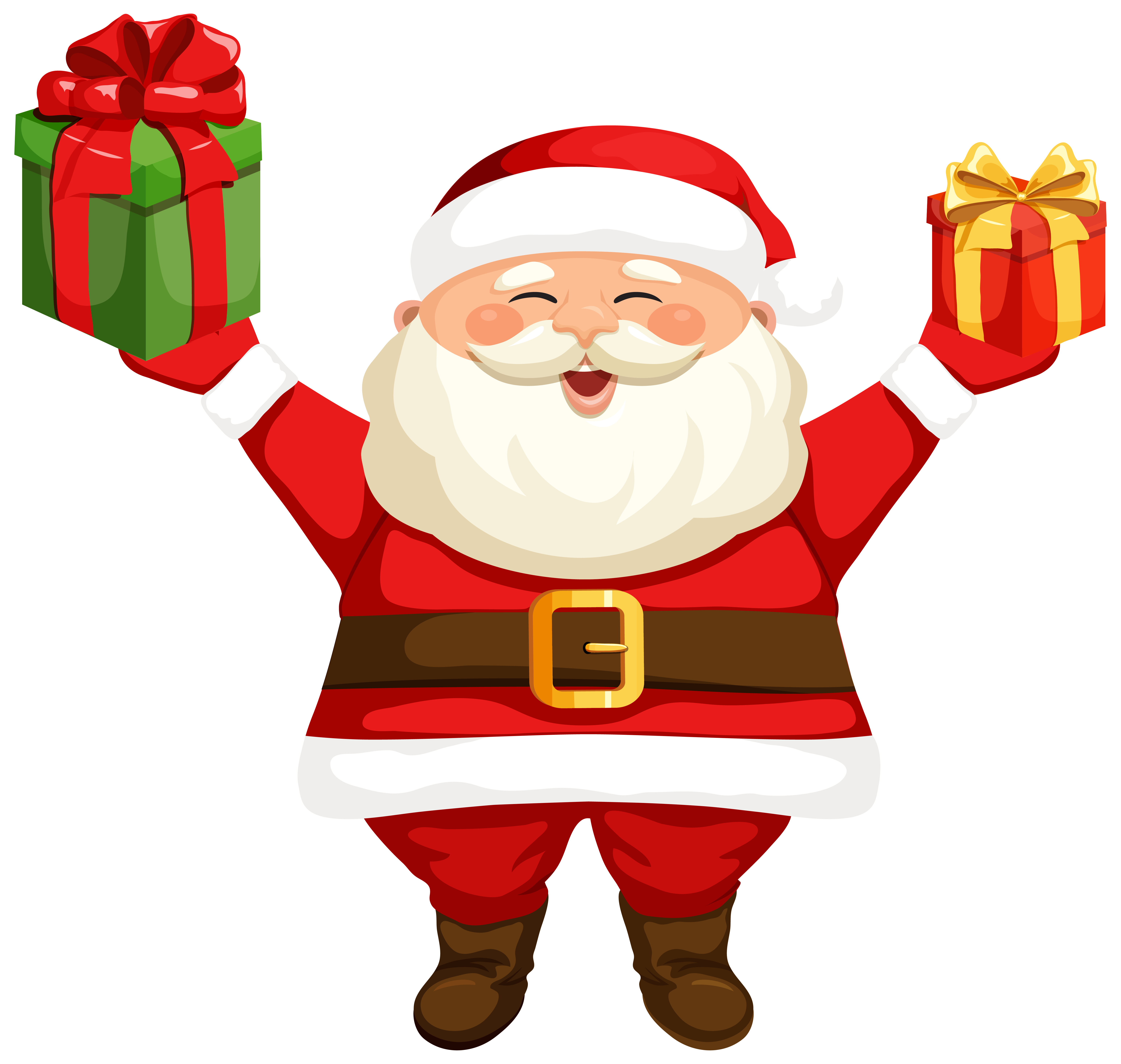 Santa christmas clipart vector transparent download Santa Claus with Gifts PNG Clipart Image | Gallery Yopriceville ... vector transparent download