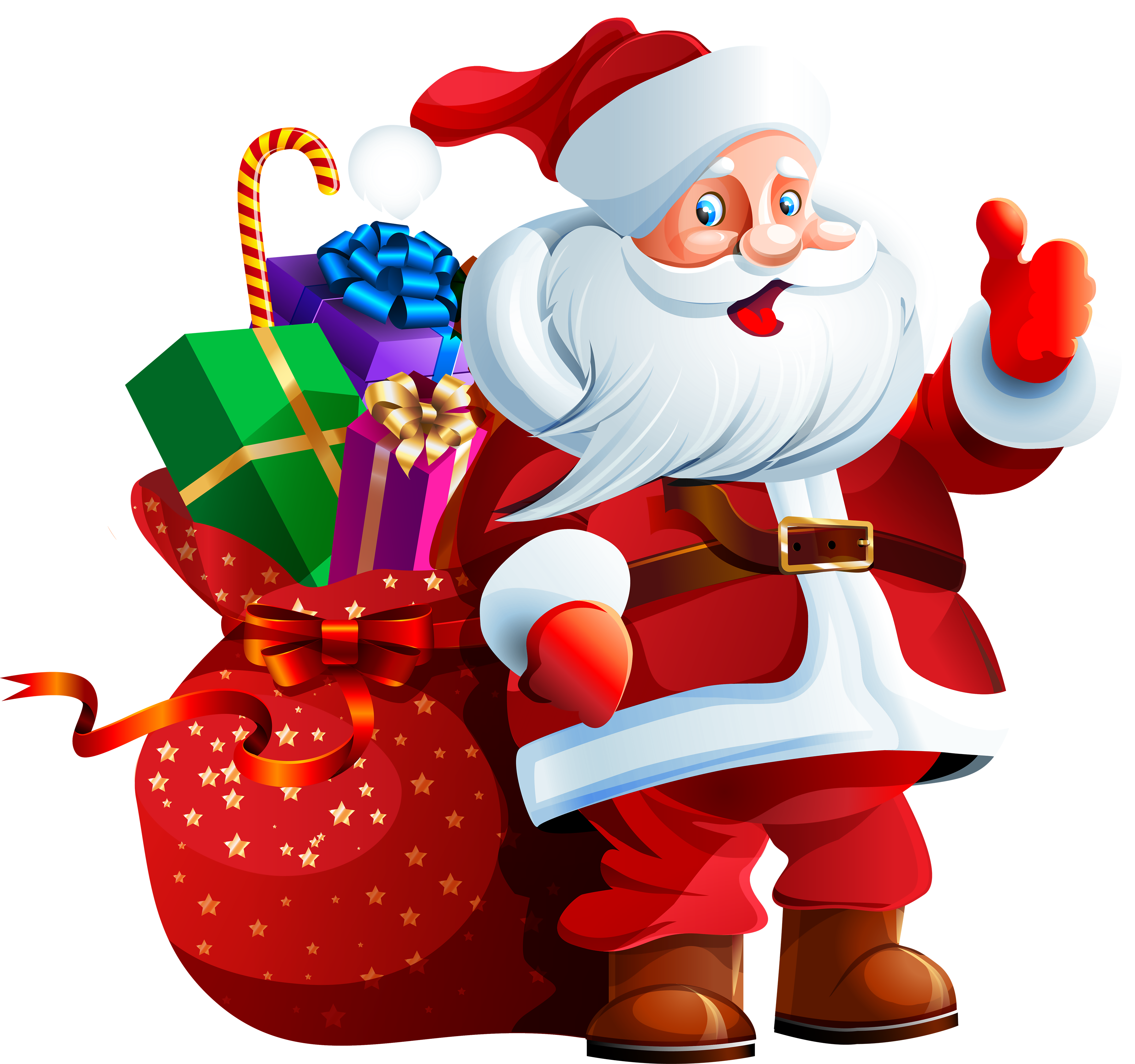 Santa dog clipart jpg black and white stock Santa Claus with Big Bag PNG Clipart - Best WEB Clipart jpg black and white stock