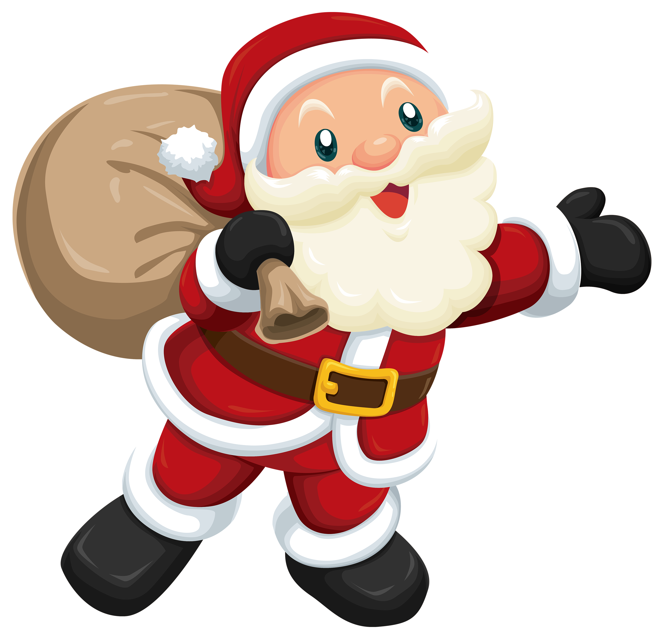 Christmas santa cliparts svg black and white Cute Santa PNG Clipart - Best WEB Clipart svg black and white