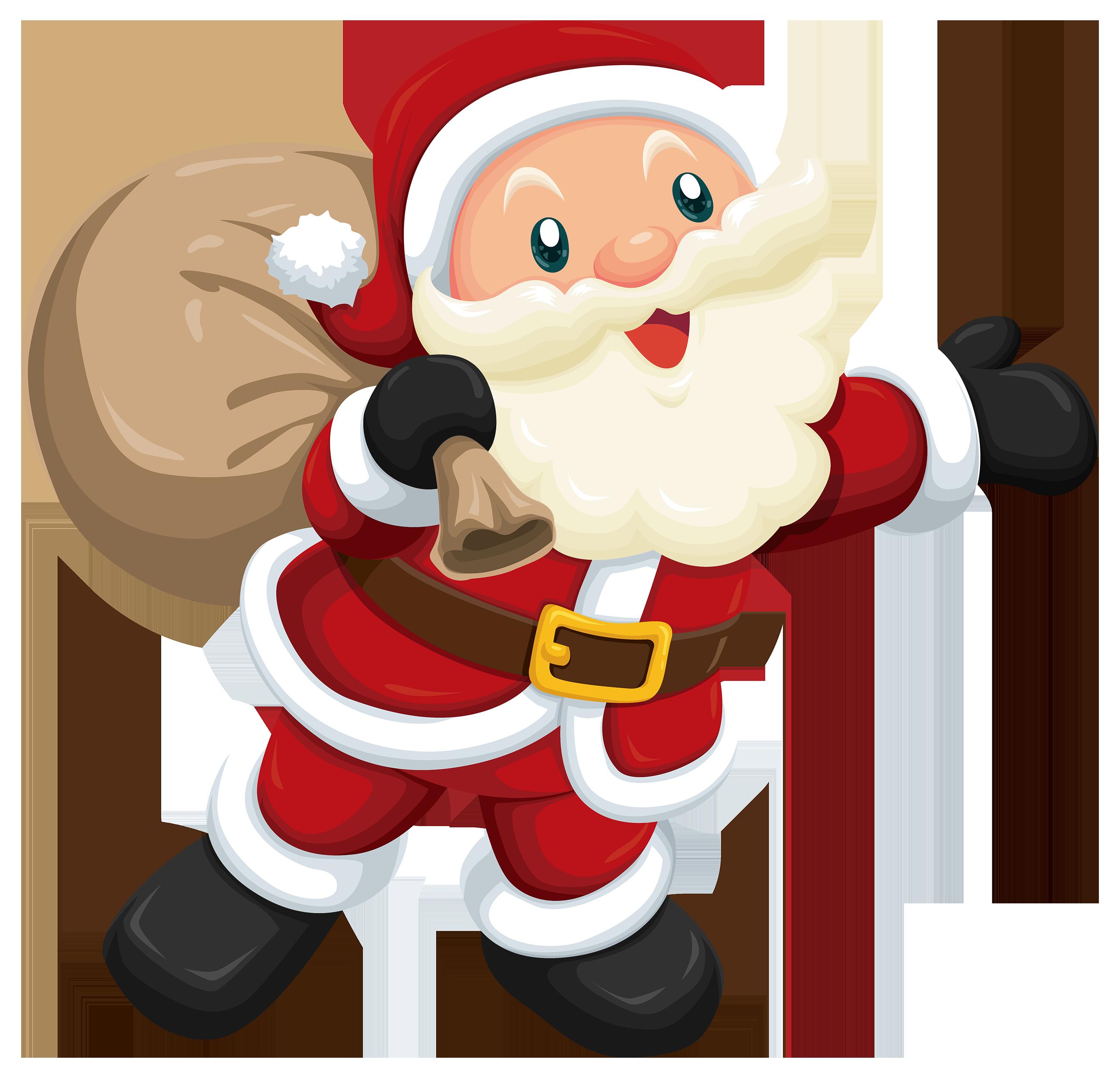Stanta clipart jpg library Cute Santa PNG Clipart - Best WEB Clipart jpg library