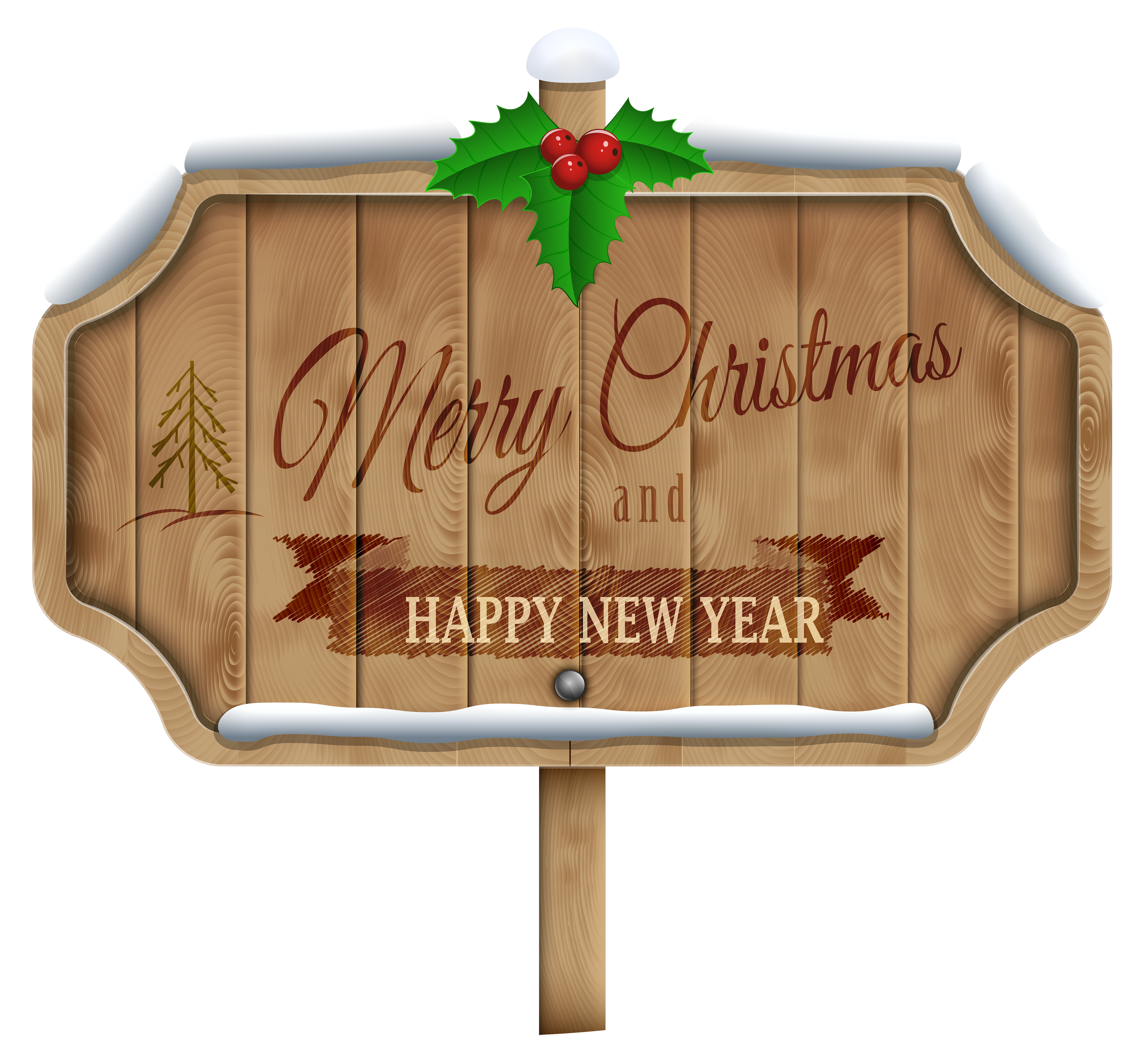 Christmas sayings clipart vector transparent library Christmas Wooden Sign Transparent PNG Clip Art Image | Gallery ... vector transparent library