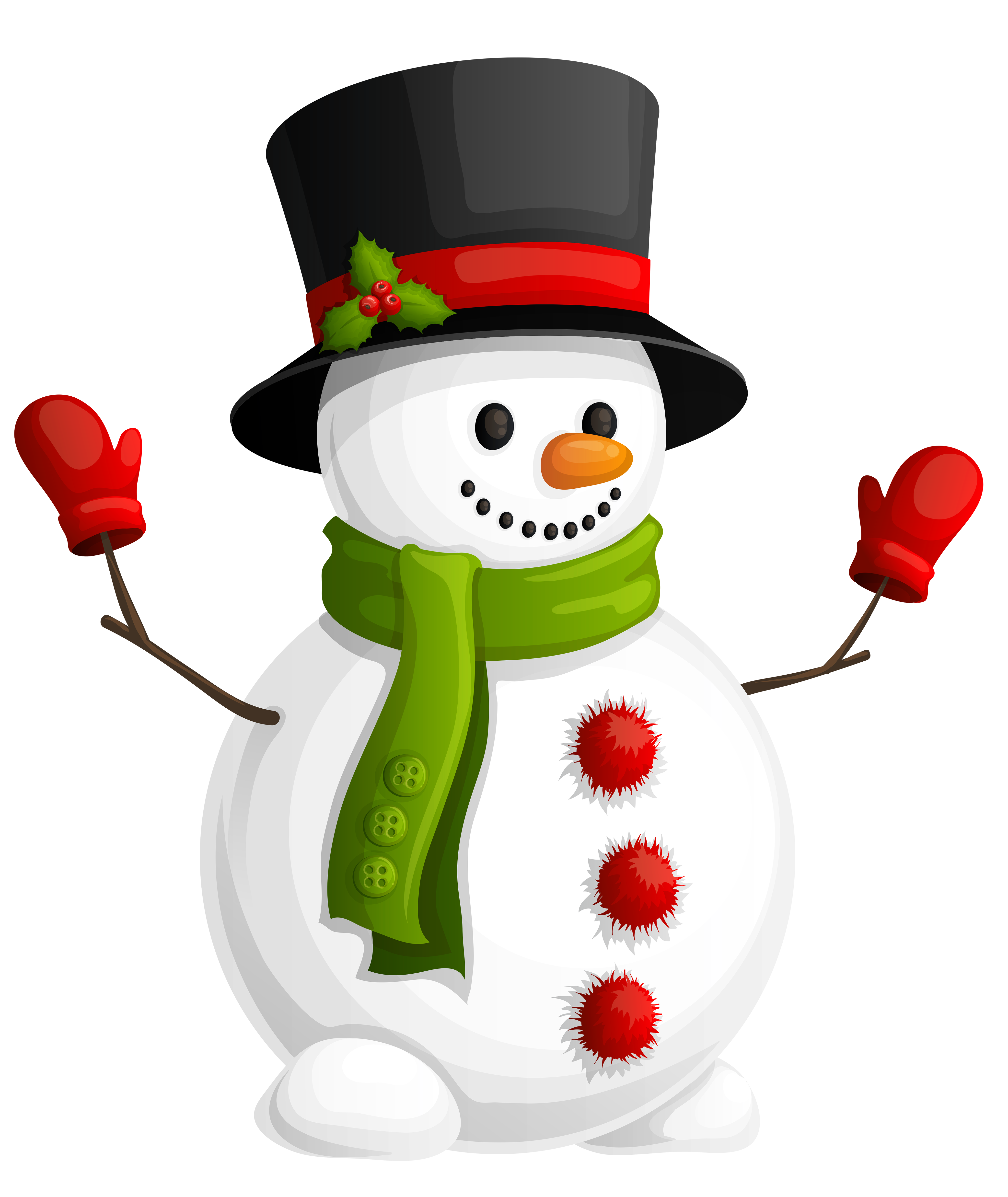 Snowman clipart in sun freeuse stock Transparent Snowman with Green Scarf Clipart | Gallery Yopriceville ... freeuse stock