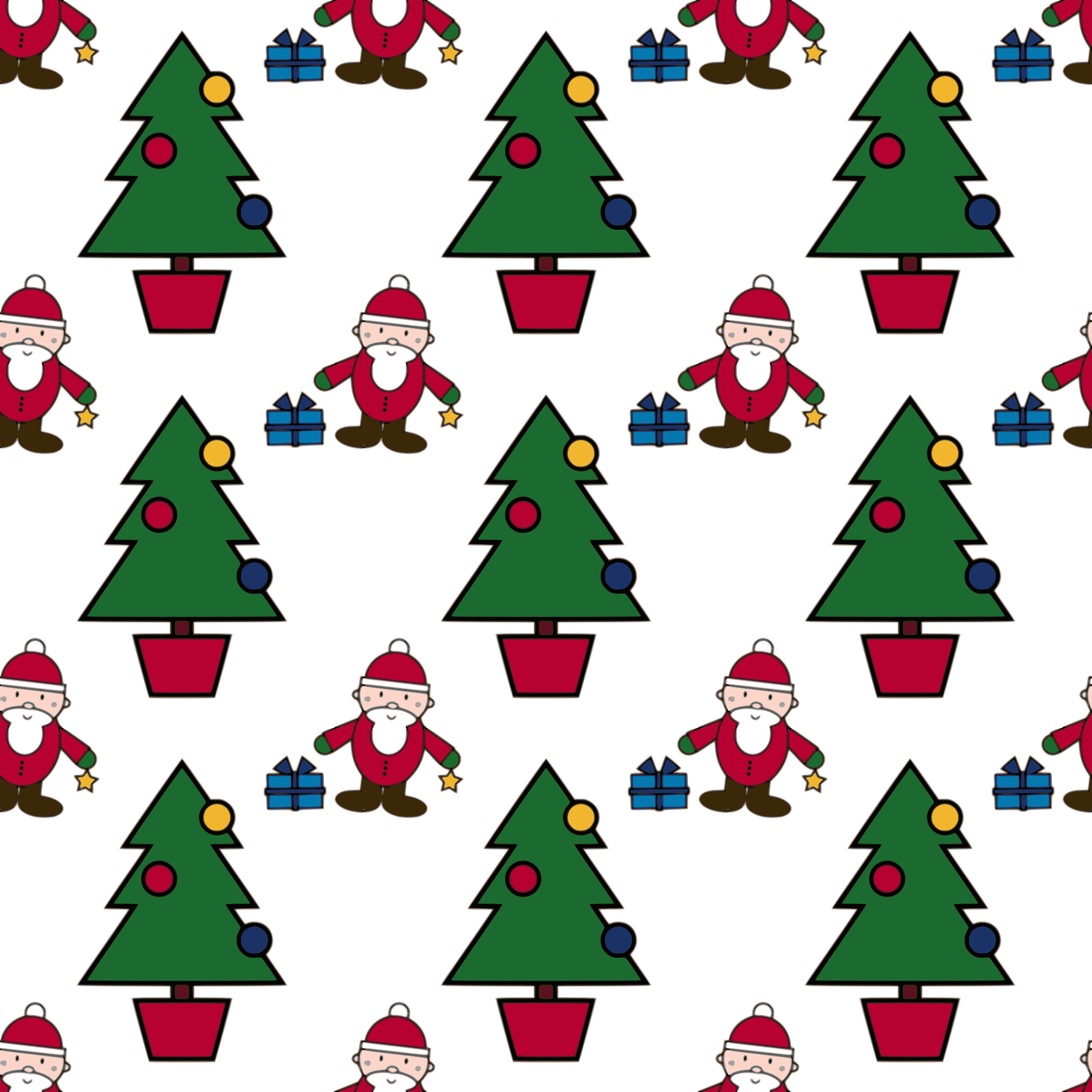 Christmas tree scene clipart svg transparent stock Clipart - Christmas Scene-seamless pattern svg transparent stock