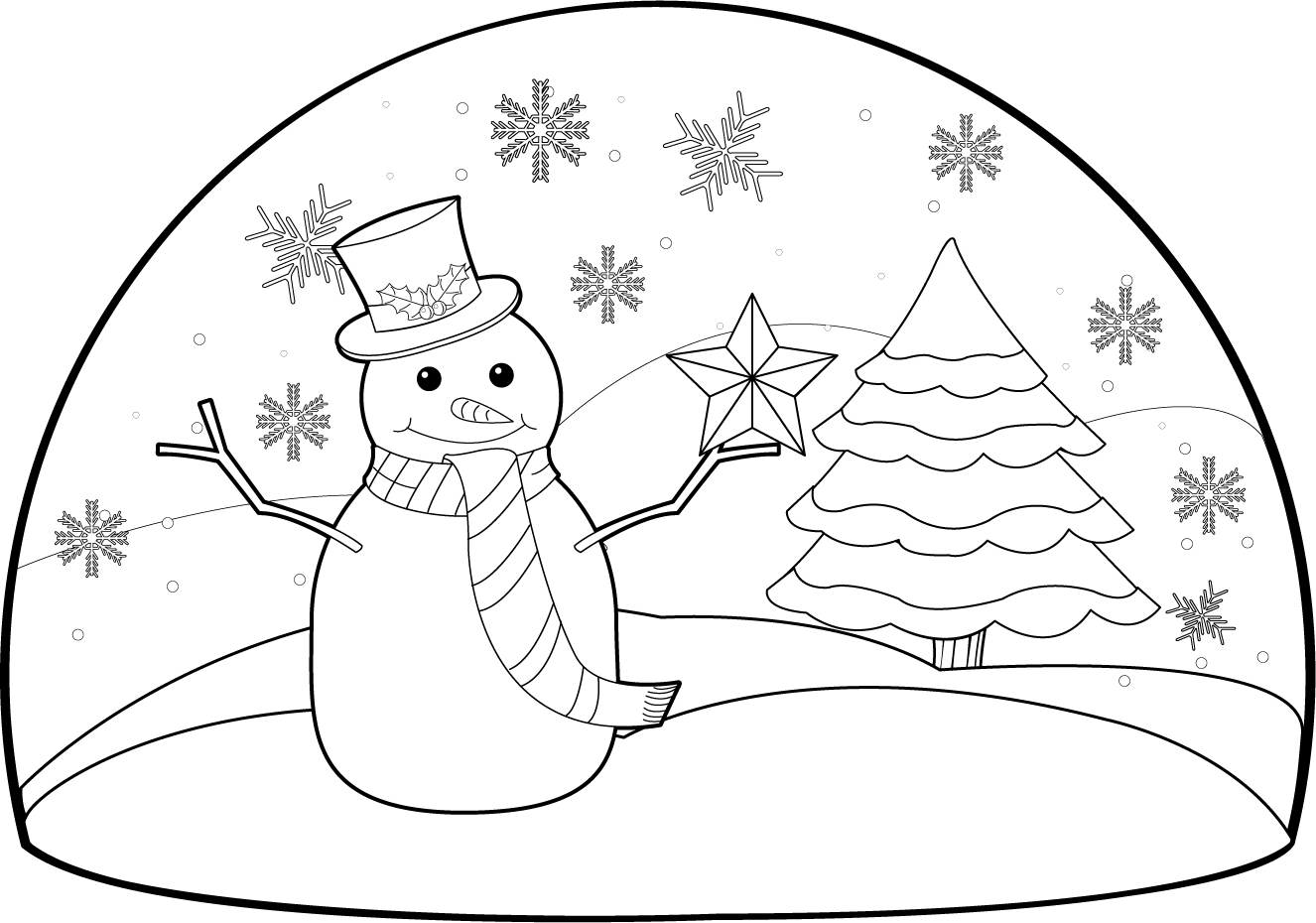Christmas scene clipart black and white image transparent stock 28+ Collection of Christmas Scenes Clipart Black And White | High ... image transparent stock