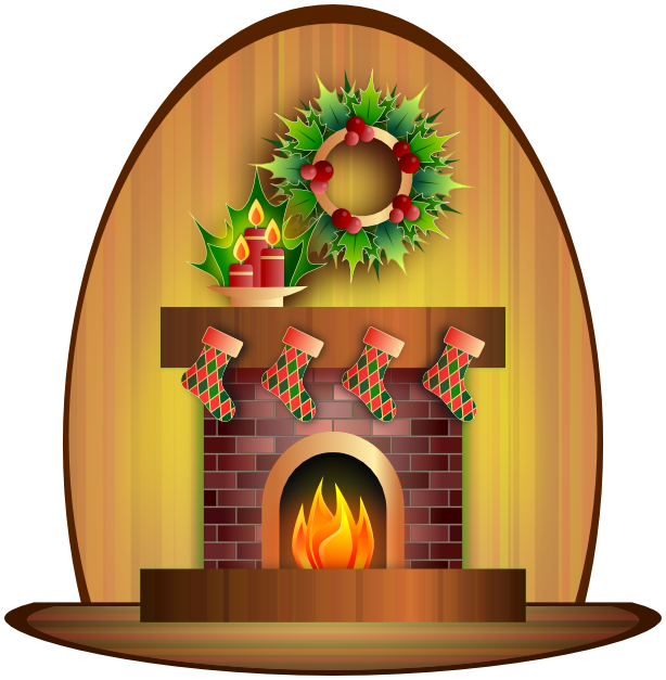 Christmas scenes clipart png royalty free download Christmas Fireplace - /holiday/Christmas/scenes/fireplace ... png royalty free download