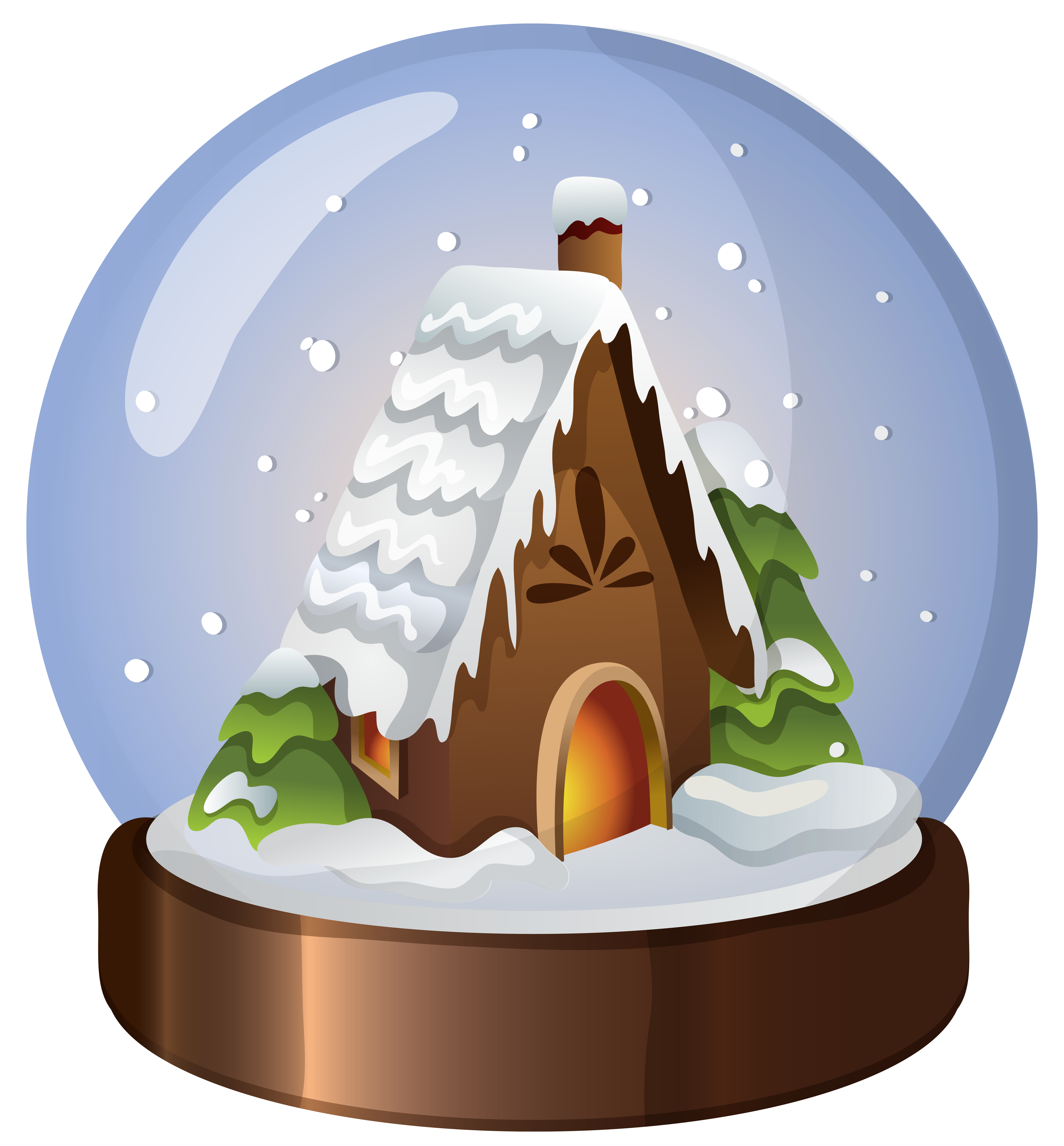 Snow house clipart clipart freeuse stock Christmas House Snow Globe PNG Clip Art Image | Gallery ... clipart freeuse stock