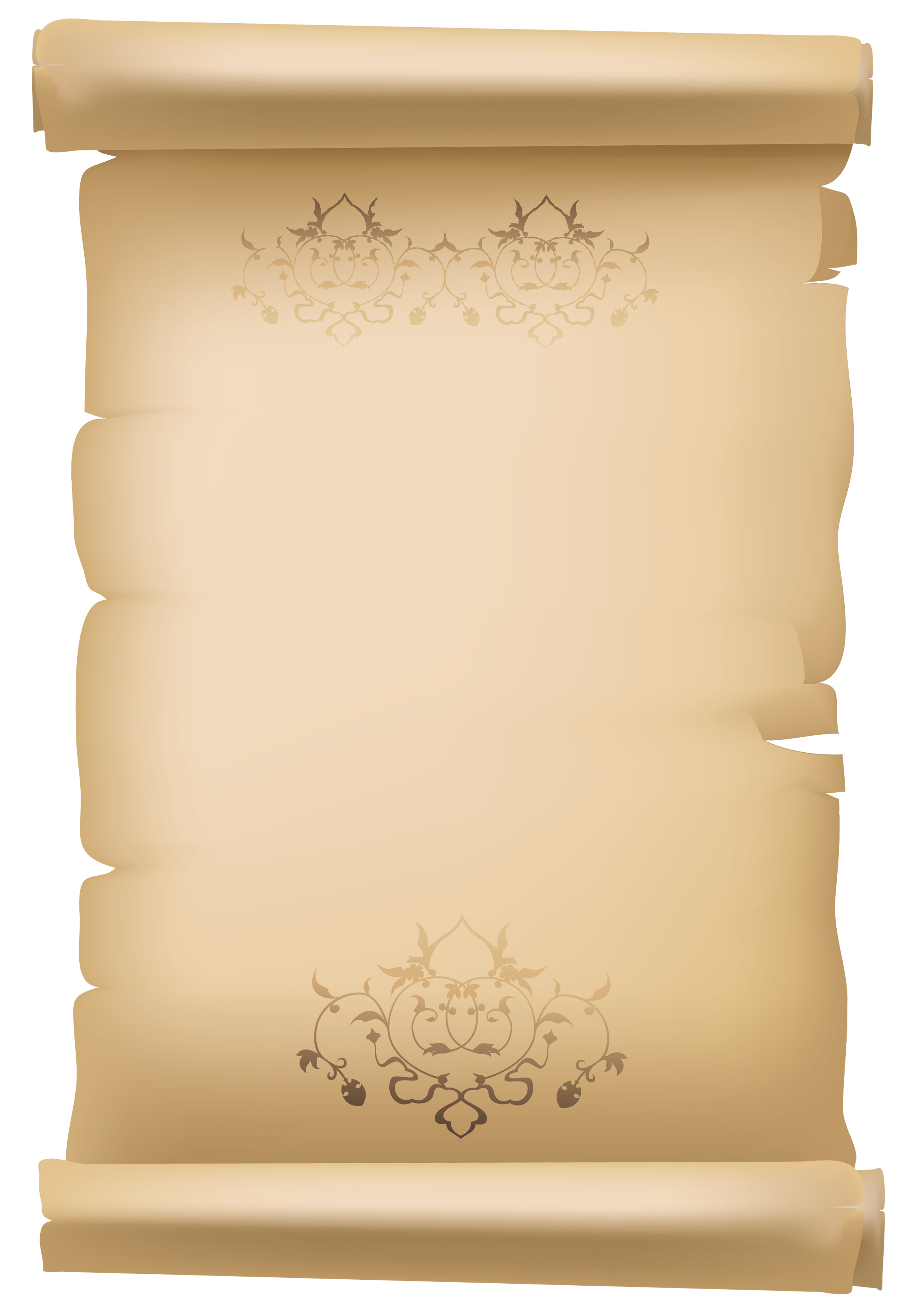 Christmas scroll clipart clip art free library Scroll Old Decorative Paper PNG Clipart Image | Gallery ... clip art free library
