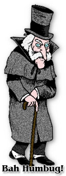 Christmas scrooge clipart