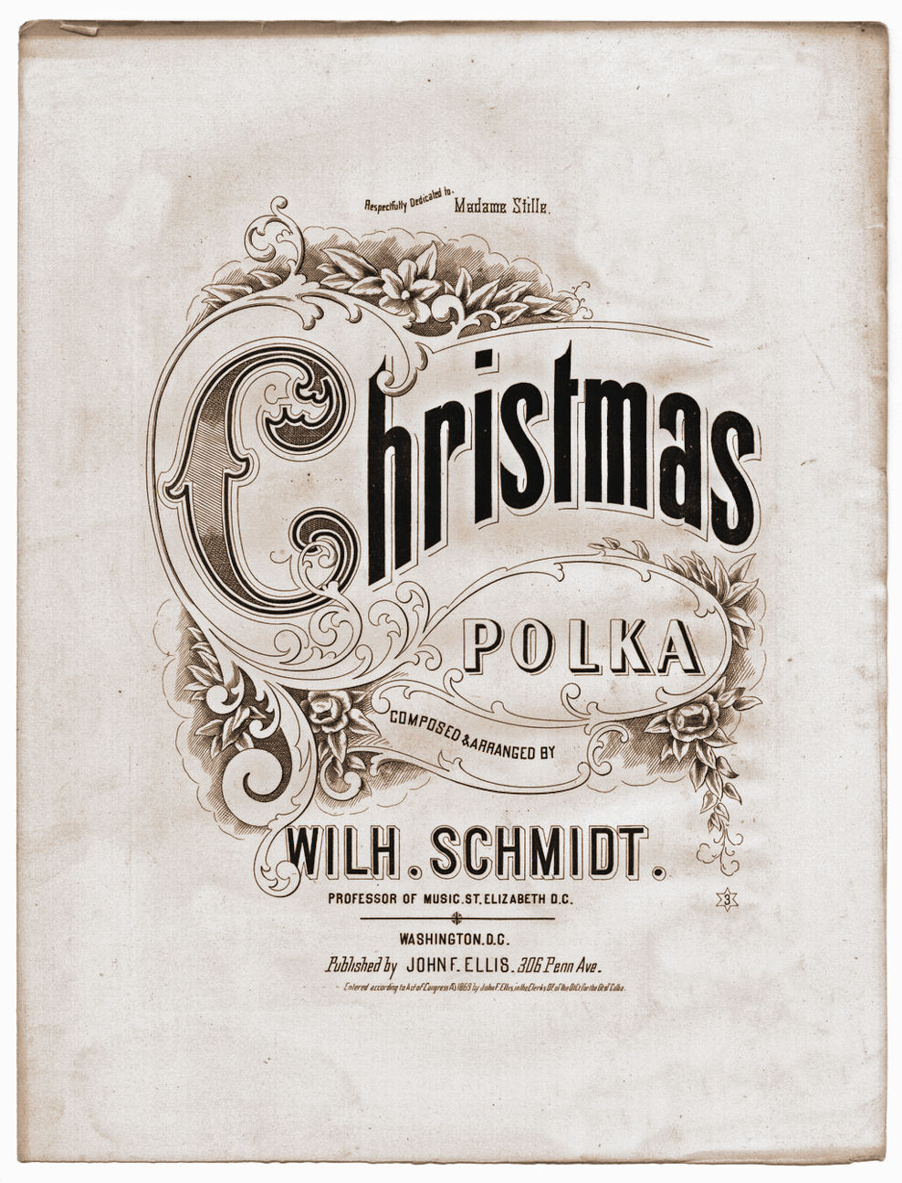 Christmas sheet music clipart image download Free Vintage Clip Art - Christmas Sheet Music - The Graphics Fairy image download