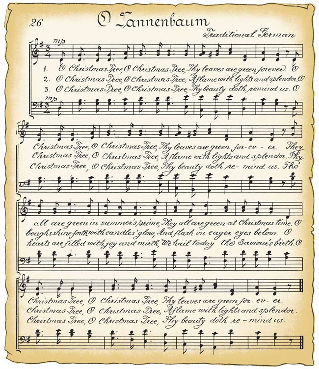 Christmas sheet music clipart jpg free Vintage christmas sheet music clipart - ClipartFest jpg free